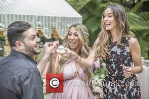 Diana Madison, Michael Costello , Courtney Bingham Sixx - Television personality Diana Madison's baby shower at Hotel Bel-Air at hotel...