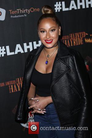 Adrienne Bailon - Los Angeles Haunted Hayride Black Carpet at Griffith Park - Arrivals - Los Angeles, California, United States...