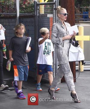 Gwen Stefani, Zuma Rossdale , Kingston Rossdale - Gwen Stefani leaves Church with her sons - Los Angeles, California, United...