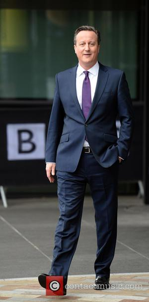 David Cameron - Prime Minister David Cameron, Len McCluskey and Andrew Marr leave Media City Manchester - Manchester, United Kingdom...