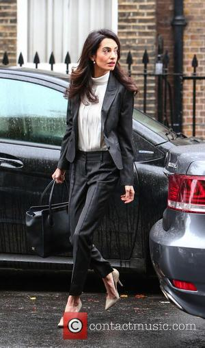Amal Alamuddin Clooney, Amal Alamuddin , Amal Clooney - Amal Alamuddin Clooney arrives at her London office for a press...