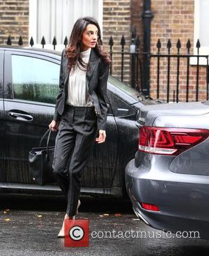 Amal Alamuddin Clooney, Amal Alamuddin , Amal Clooney - Amal Alamuddin Clooney arrives at her London office for a press...