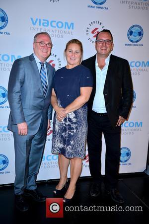Chris Cooney, CEO EUE/Screen Gems Studios, CYMA Zarghami President of Viacom Kids , Pierluigi Gazzolo President of Viacom International Networks...