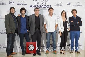 Carmelo Gomez, Tamar Novas, Gerardo Herrero, Antonio Garrido , Celia Freijeiro - 'La Playa de los Ahogados' photocall at Princesa...