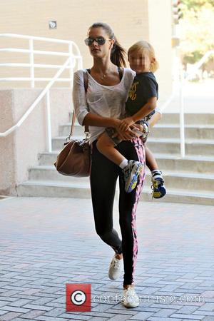 Alessandra Ambrosio , Noah Ambrosio Mazur - Alessandra Ambrosio takes her son Noah Ambrosio Mazur to a doctor's appointment in...