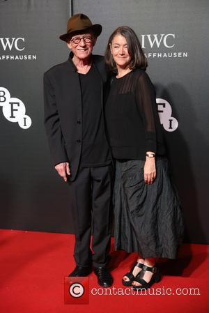 John Hurt , Anwen Rees-Myers - The British Film Institute's LUMINOUS gala dinner held at Guildhall - Arrivals - London,...