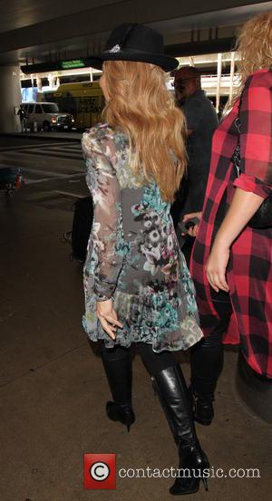 Gloria Trevi - Mexican pop diva Gloria Trevi arrives at Los Angeles International Airport (LAX) - Los Angeles, California, United...