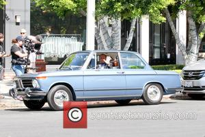 Jerry Seinfeld - Jerry Seinfeld spotted filming his web series 'Comedians in Cars Getting Coffee' - Los Angeles, California, United...