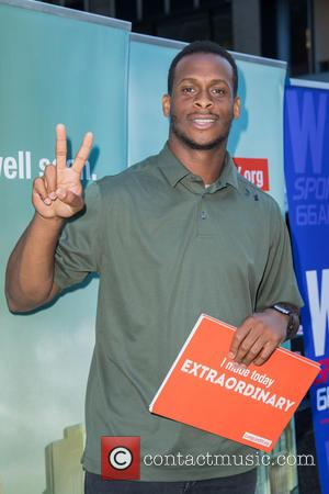 Geno Smith - LiveOnNY's Organ Donor Enrollment Day with support from the Giants, Yankees, Jets and Mets at 56st &...