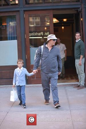 Matthew McConaughey , Levi McConaughey - Matthew McConaughey spotted out in TriBeCa with his son Levi McConaughey - New York...