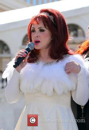 Naomi Judd , The Judds - Wynonna and Naomi Judd arrive at The Venetian in a classic 57 Chevy for...