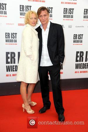 Katja Riemann , Oliver Masucci - World premiere of 'Er ist wieder da' at Zoo Palast movie theater. at Zoo...