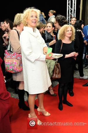 Katja Riemann - World premiere of 'Er ist wieder da' at Zoo Palast movie theater. at Zoo Palast movie theater...