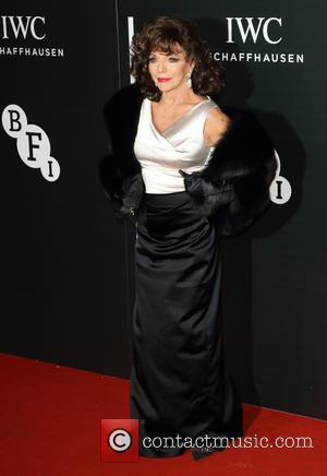 Joan Collins - The British Film Institute's LUMINOUS gala dinner held at Guildhall - Arrivals at Guildhall, London - London,...