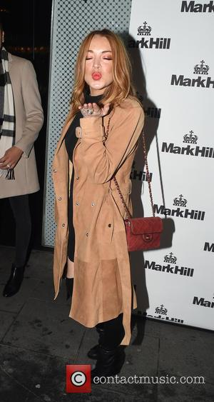 Lindsay Lohan - Mark Hill Hair launch event at the W London Leicester Square - London, United Kingdom - Tuesday...