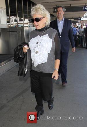 Roseanne Barr - Roseanne Barr arrives at Los Angeles International (LAX) Airport - Los Angeles, California, United States - Tuesday...