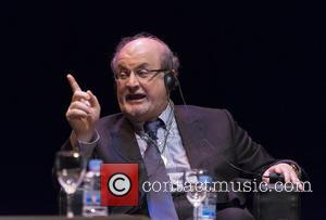 Salman Rushdie - Writer Salman Rushdie attends a presentation discussing his last book 'Two Years Eight Months and Twenty-Eight Nights'...