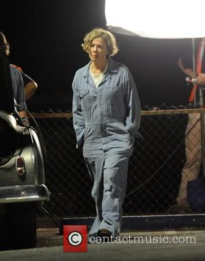 Annette Bening - Actress Annette Bening wears a vintage jumpsuit for a late night scene on the set of '20th...