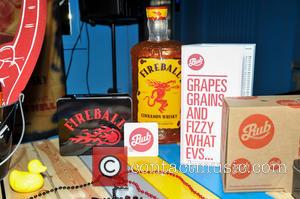 Fireball Promo - After noticing that a Whisky company's promotional material was to be prominently displayed during their set, they...