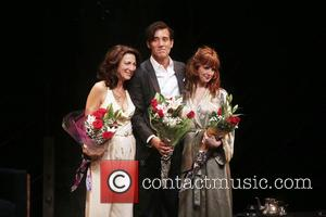 Eve Best, Clive Owen , Kelly Reilly - 'Old Times' opening night curtain call at the American Airlines Theatre at...