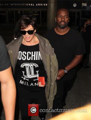 Kris Jenner , Corey Gamble - Kris Jenner and Corey Gamble arrive at Los Angeles International Airport (LAX) - Los...