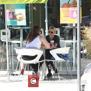 Nicole Richie - Nicole Richie helps her daughter Harlow Madden with a homework assignment at Menchie's Frozen Yogurt - Los...