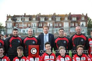 Prince Harry - Prince Harry visits Paignton Rugby Club in support of the RFU's World Cup legacy programmes - Paignton,...