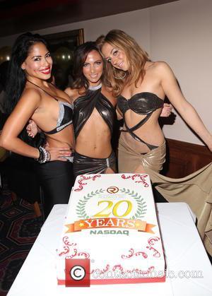 Ivy Shirley, Malena , Monroe - Rick's Cabaret New York Celebrates 20th Anniversary of Nasdaq in New York City -...
