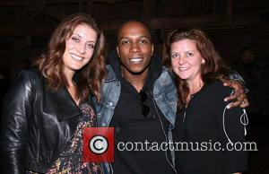 Kate Walsh, Leslie Odom Jr. , Guest - Backstage visit at the Broadway musical Hamilton at the Richard Rodgers Theatre....