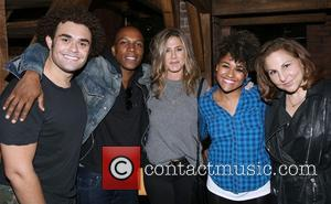 Andrew Chappelle, Leslie Odom Jr., Jennifer Aniston, Ariana Debose and Kathy Najimy
