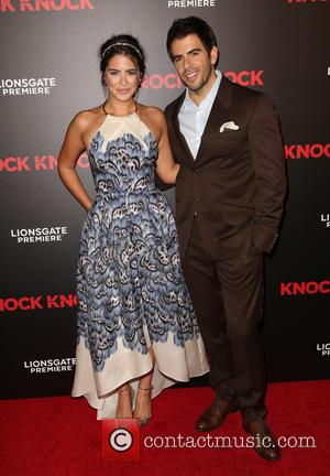 Lorenza Izzo , Eli Roth - Premiere of Lionsgate's 'Knock Knock' at TCL Chinese 6 Theatres in Hollywood - Arrivals...