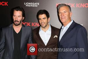 Keanu Reeves, Eli Roth , Guest - Premiere of Lionsgate's 'Knock Knock' at TCL Chinese 6 Theatres in Hollywood -...
