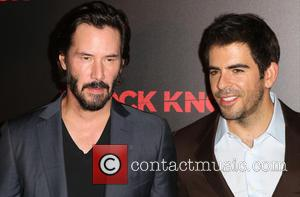 Keanu Reeves , Eli Roth - Premiere of Lionsgate's 'Knock Knock' at TCL Chinese 6 Theatres in Hollywood - Arrivals...