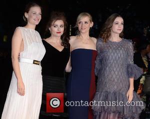 Carey Mulligan, Ann- Marie Duff, Helena Bonham- Bonham Carter , R - The premiere of Suffragette during London Film Festival...