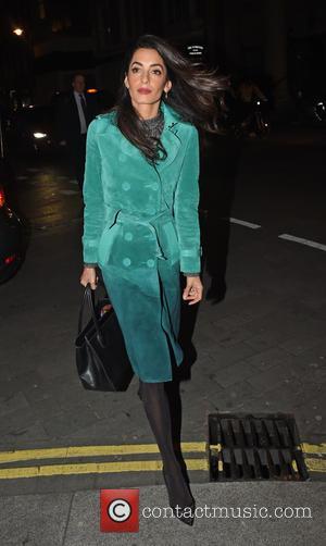 Amal Clooney - Amal Clooney arrives for dinner at Roka restaurant in Mayfair - London, United Kingdom - Thursday 8th...