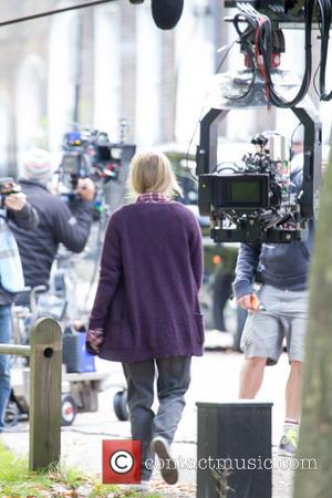 Colin Firth , Renee Zelwegger - Colin Firth and Renee Zelwegger spotted filming Bridget Jones in North London. - London,...
