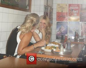 Tess Daly - Tess Daly stops for late night fish & chips at The SeaShell of Lisson Grove - London,...
