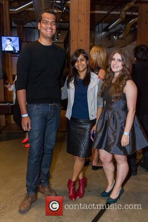 Sriram Krishnan, Aarthi Ramamurthy , Kia Kokalitcheva - Fortune hosts 40 Under 40 party at GitHub Headquarters in San Francisco...