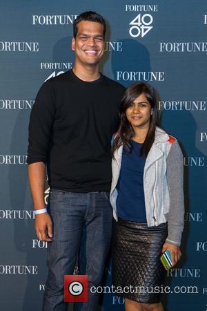 Sriram Krishnan , Aarthi Ramamurthy - Fortune hosts 40 Under 40 party at GitHub Headquarters in San Francisco - San...