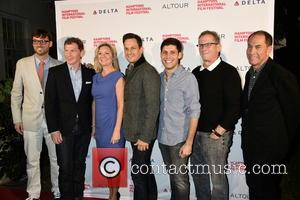 David Nugent, Bobby Flay, Anne Chaisson, Josh Charles, Michael Weber, Marshall Fine and Stuart Match Suna