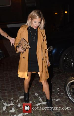 Caroline FLack - Xfactor Presenter Caroline Flack seen arriving at the Chiltern Firehouse in London on a night out with...