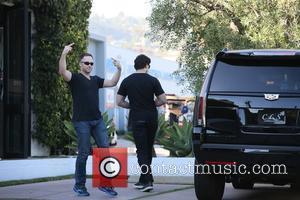 Joe Manganiello - A man shouts profanities and shows hand signals as Joe Manganiello exits John Varvatos at West Hollwood...
