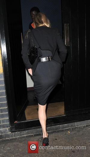 Kate Moss - Kate Moss arrives at Chiltern Firehouse with ashes on her dress after attending Sexy Fish - restaurant...
