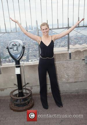 Toni Garrn - Supermodel Toni Garrn Lights the Empire State Building Pink in NYC in honor of International Day of...