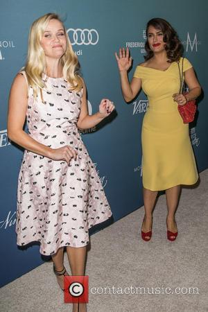 Reese Witherspoon , Salma Hayek Pinault - Celebrities attend Variety's Power of Women Luncheon at Beverly Wilshire Four Seasons Hotel....