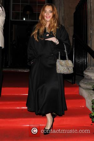 lindsay lohan - various celebrities seen arriving and leaving Eva Cavalli VIP birthday party - London, United Kingdom - Friday...