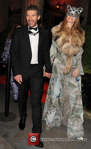 antonio banderas Nicole Kimpel - various celebrities seen arriving and leaving Eva Cavalli VIP birthday party - London, United Kingdom...
