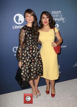 Mia Maestro and Salma Hayek Pinault