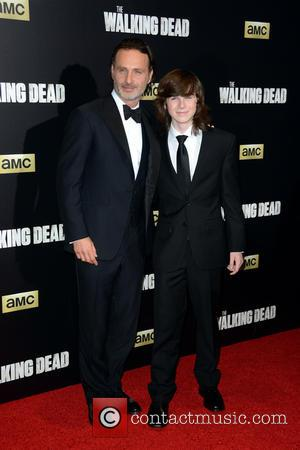 Andrew Lincoln and Chandler Riggs