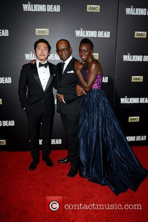 Steven Yeun, Lennie James and Danai Gurira